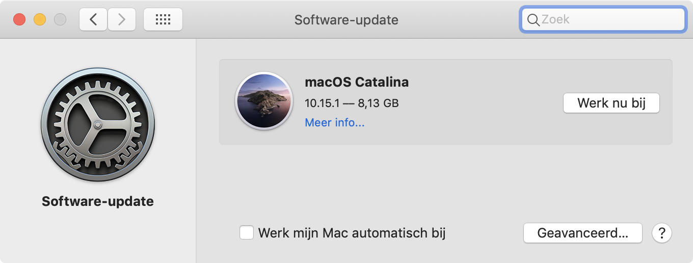 Installeer macOS Catalina